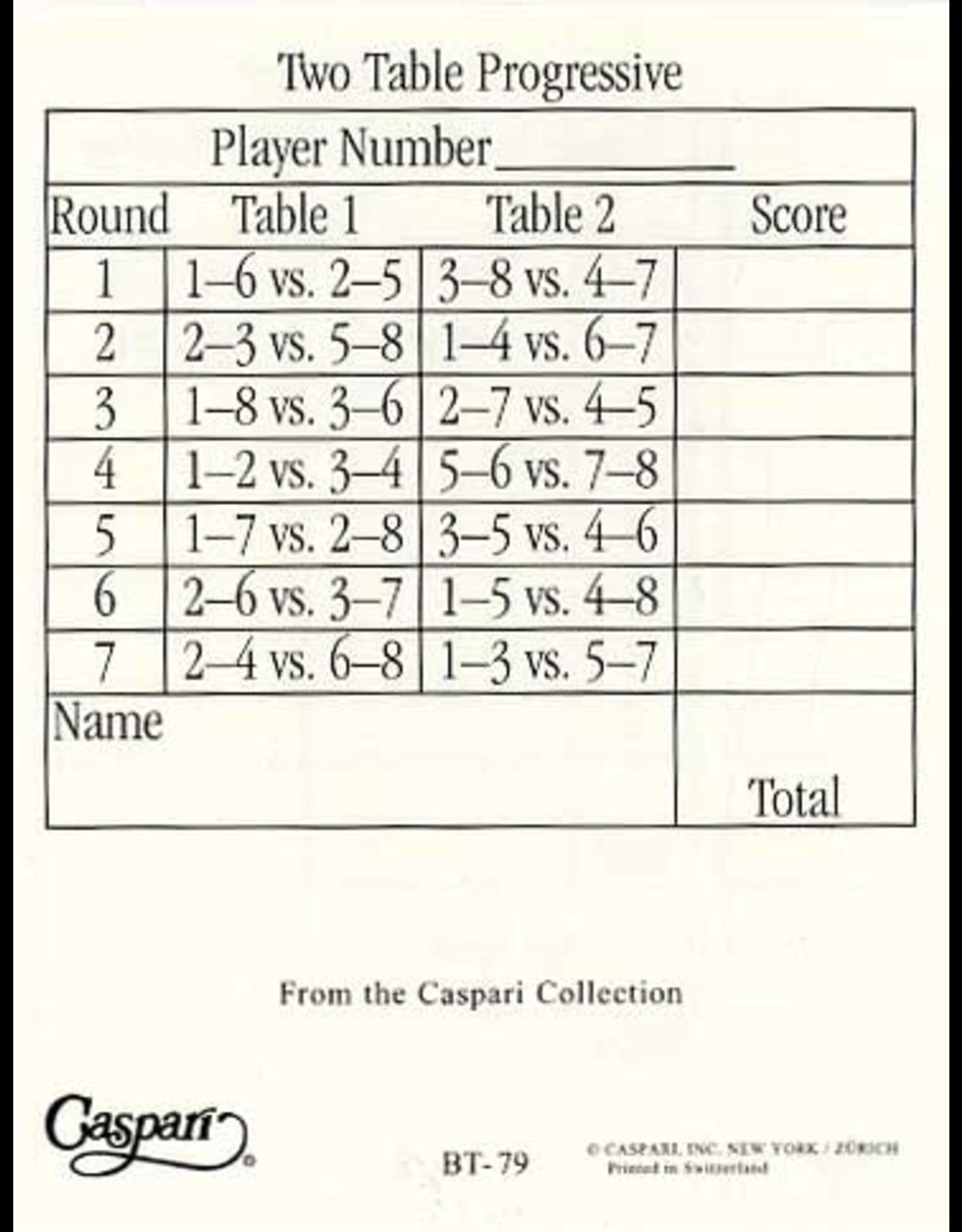 Caspari Bridge Tallies 12 Pack of 12 Sheets Per Pack - Sea Fans