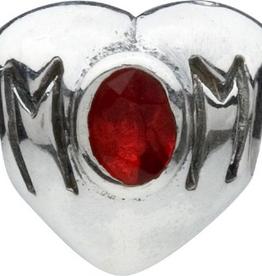 Chamilia Mom Heart Charm Sterling Silver w CZ Stone JA-21B