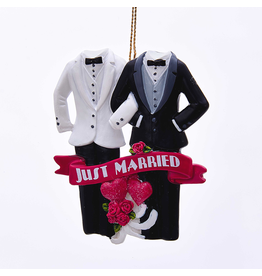 Kurt Adler Christmas Ornaments Gay-Same-Sex Marriage Just Married Couple 3.5 inch