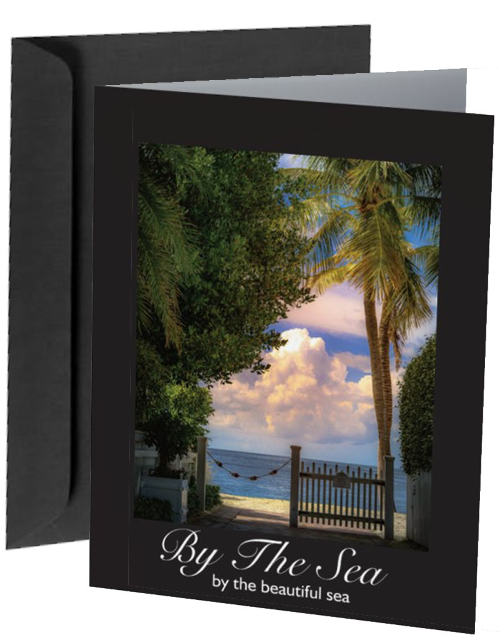 By The Seas-N Greetings Blank Note Card By The Sea By the Beautiful Sea