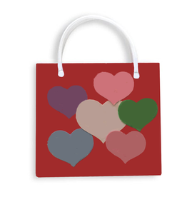 DM Merchandising Valentine's Gift Bag Tote HRT-BLM-C Heart Tote