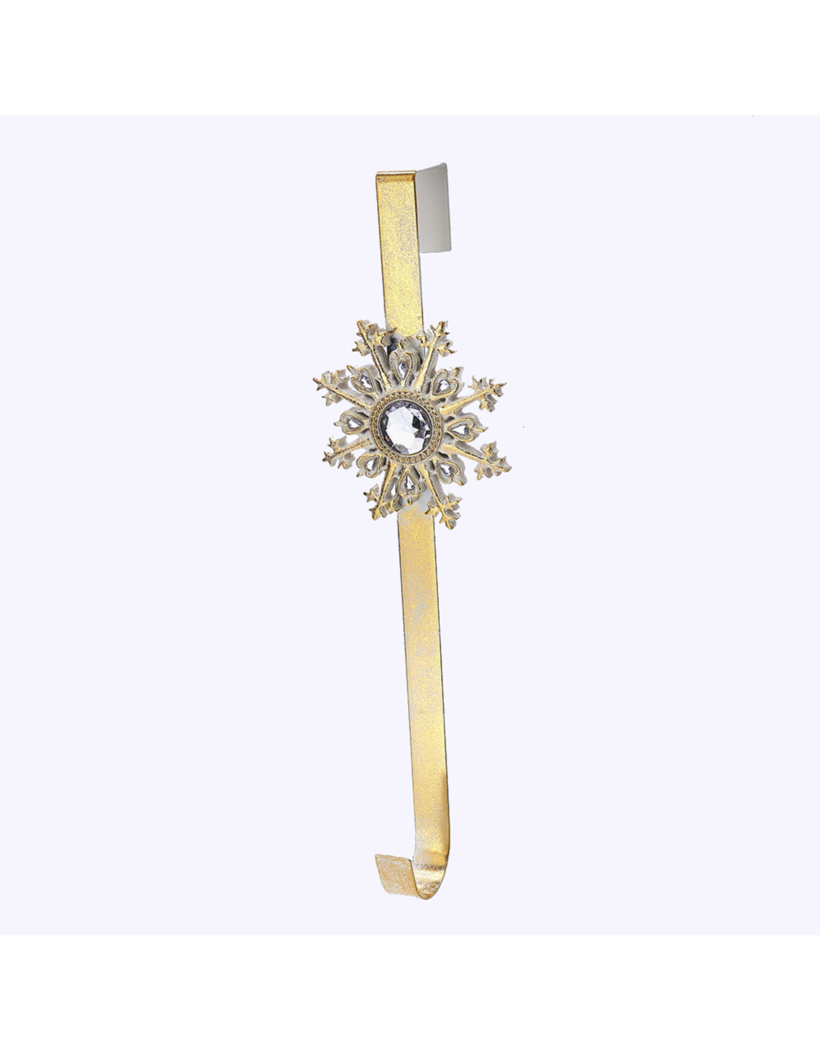 Kurt Adler Gold Tin Metal Christmas Wreath Hanger W ...