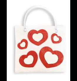 DM Merchandising Valentine's Gift Bag Tote HRT-BLM-E