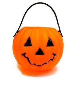 Mini Plastic Pumpkin Head Bucket Handled 2.5 Inch