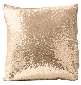 Twos Company Dash of Dazzle Sequin PIllow Gold