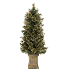 Gold Glitter Tip Tree Potted 4FT