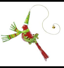 Mark Roberts Christmas Decorations Festive Bird Hanging Ornament Red
