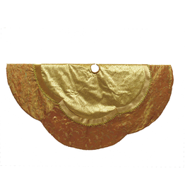 Kurt Adler Christmas Tree Skirt Gold Etched Velvet Tree Skirt 60 inch