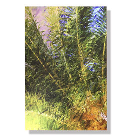 Charles W Gallery Wrapped Canvas Wall Art Print - Palm Abstract Left