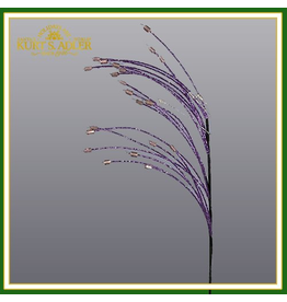 Kurt Adler Silver Purple Beaded Spray Floral Pick