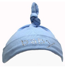 Mama and Bambino Infant Baby Hat with Rhinestones Blue Baby