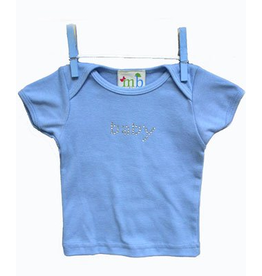 Mama and Bambino Infant Baby Tee with Rhinestone Bling T-Shirt Blue Baby