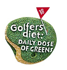Kurt Adler Golfers Ornament Golfers Diet Daily Dose of Greens -C