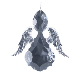 Twos Company Precious Angel Ornament Clear Acrylic 6x5.5 Inch