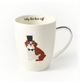 Twos Company Kennel Club Puppy Love Coffee Mug Bull Dog Today Has Been