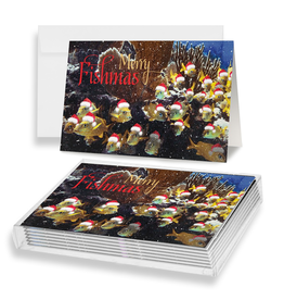 By The Seas-N Greetings Christmas Cards 10pk Merry Fishmas From All