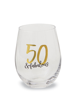 Mud Pie 50 and Fabulous Stemless Wine Glass