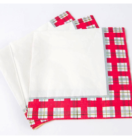 Papyrus Christmas Lunch Napkins 20pk Plaid Border Paper Napkins