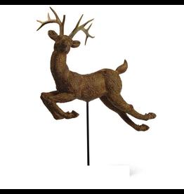 K&K Interiors Christmas Display Deer On Pole - No Base
