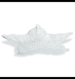 Mud Pie Glass Starfish Serving Tray - Medium 10.5x10.5 inch