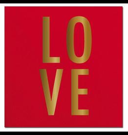 Slant Valentines Day Cocktail Napkins 20ct LOVE foil F155302 Slant
