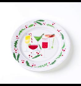 Papyrus Christmas Paper Salad-Dessert Plates 8pk Round-Cocktails Hour