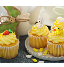 Twos Company Easter Shape Sugar Decorations For Cupcakes And Cakes 18pk