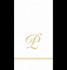 Caspari Monogram Initial P Paper Guest Napkins 15pk