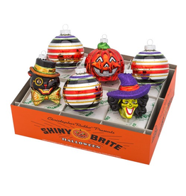 Christopher Radko Shiny Brite Halloween Ornaments Rounds and Figures
