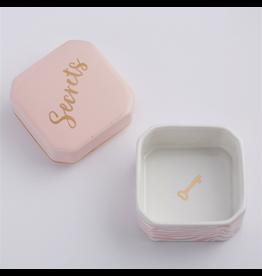 Twos Company Porcelain Trinket Box w Secrets 51606-20-B