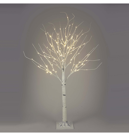 Kurt Adler White Birch Twig Tree Pre-Lit 6 FT WW LED Twinkle Lights