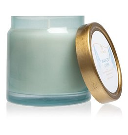 Washed Linen Candles Glass Jar Statement Candle 16 Oz