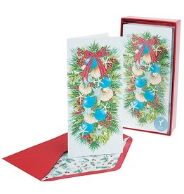 PAPYRUS® Boxed Christmas Cards 16ct Seashell Boughs