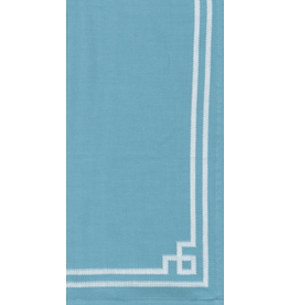 Caspari Fabric Cotton Tea Towels 24x31 Rive Gauche - Turquoise