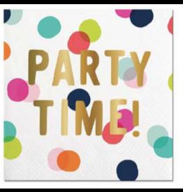 Slant Party Time Foil Cocktail Beverage Napkins 20ct by Slant