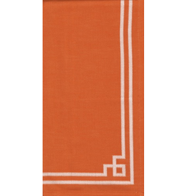 Caspari Fabric Cotton Tea Towels 24x31 Rive Gauche - Orange