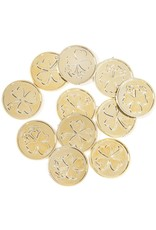 Darice Irish St Patricks Day Gold Plastic Coins Decorations 50PK
