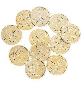 Darice Irish St Patricks Day Gold Plastic Coins Decorations 50PK