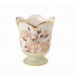 Artis Orbis White Rose Tea Light Votive Holder - Smithsonian Collection