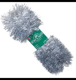 Kurt Adler Silver Tinsel Garland 15ft 4 Ply Christmas Garland