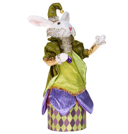 Mark Roberts Fairies Bunnies Bunny Rabbit Candy Box 14 inch w Green