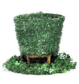 Darice Irish St Patricks Day Tinsel Leprechaun Hat Decoration 11x8