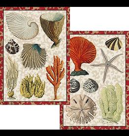 Caspari Blank Note Cards Set of 8 87610.46 Coastal Curiosities