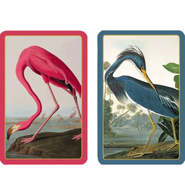 Caspari Playing Cards 2 Decks of Audubon Birds Bridge Cards