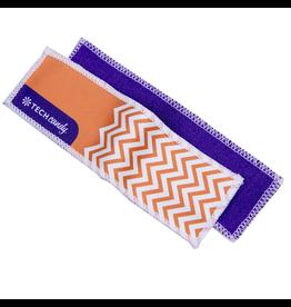 TECH Candy Micro Fiber Bookmark Screen Cloth Herringbone Pumpkin Purple