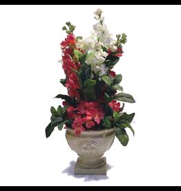 Digs Silk Flower Arrangement in Decorative Pot