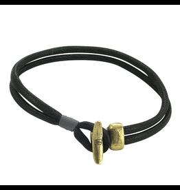 Waxing Poetic® Jewelry 2 Strand Boat Cleat Bracelet Mens LG -Brass