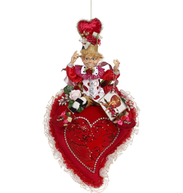 Mark Roberts Fairies Elves Valentines Day Heart With Elfin And Flowers 27 Inch