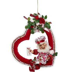 Mark Roberts Fairies Elves Valentines Day Heart With Elf And Flowers 26.5 Inch