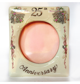 Porcelain Picture Frame 25th Anniversary